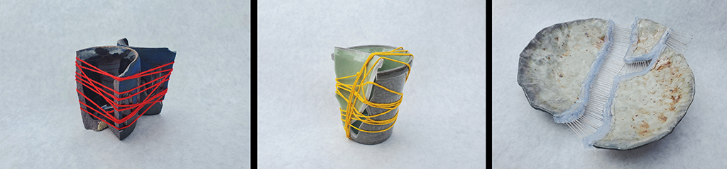 Reconstruction Series (left to right, Shot Glass, Cup, Dinner Plate)