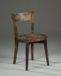 Graduate Work, single dark wood chair
