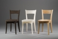 Graduate Work, three chairs, dark, white and light wood