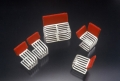 Mini chairs with red backs