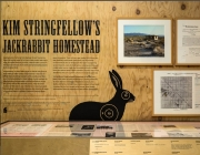 Installation view of Jackrabbit Homestead at the Autry