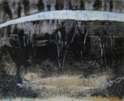 Etching from hand painted lithograph