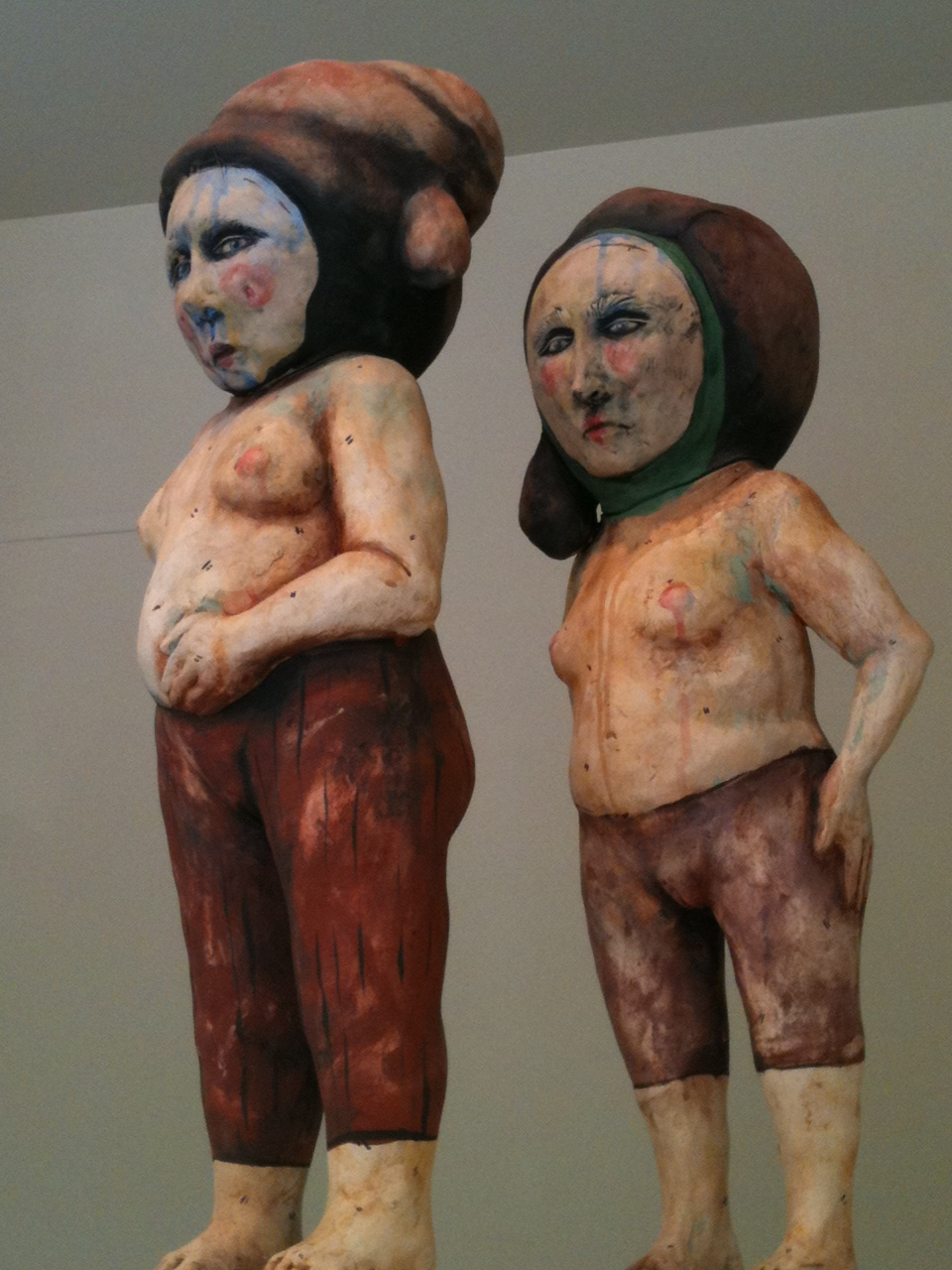 james tisdale ceramic sculpture of two figures