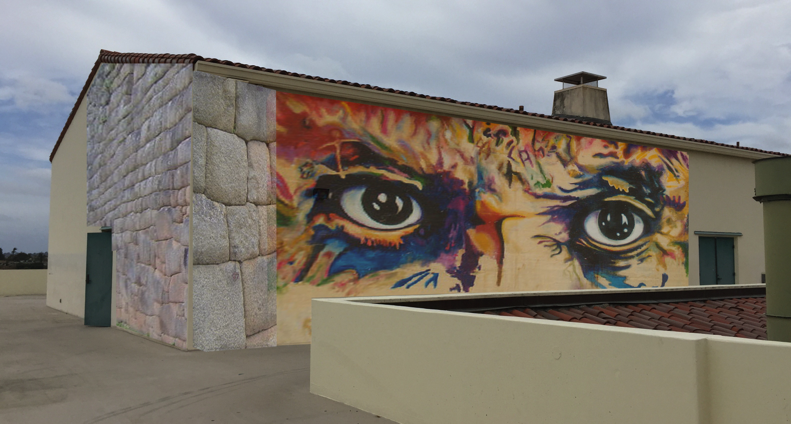Eyes of Picasso Mural at San Diego State University School of Art
