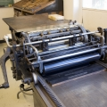 Printmaking Press Top View