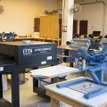 Screen Printing Lab Various Screen Printing Equipment
