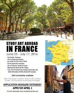 Study Art Abroad in France poster, click to view accessible PDF
