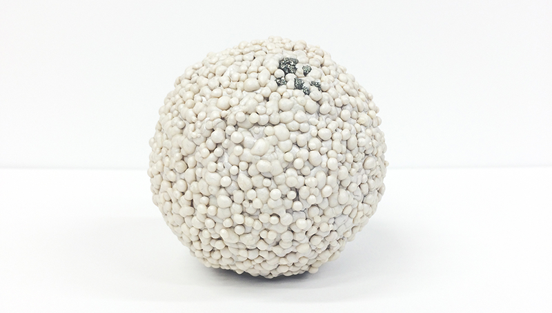 large white ball comprised of small white balls